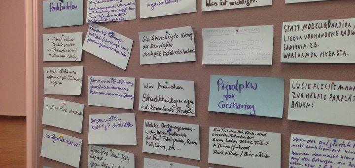 Die Anwohner gaben den Planern zahlreiche Ideen mit auf den Weg, um die Konkurrenzsituation um den vorhandenen Parkraum in der Neustadt zu entspannen.Foto: Füller