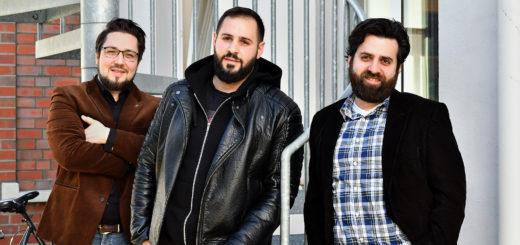 Stefan Scheel, Ahmed Al-Rashed und Dimitrios Kotrotsos (von links) halten die zwei Workshops in Delmenhorst gemeinsam ab.Foto: Konczak