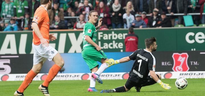 Max Kruses zweiter Treffer - die Entscheidung gegen Darmstadt 98. Foto: Nordphoto