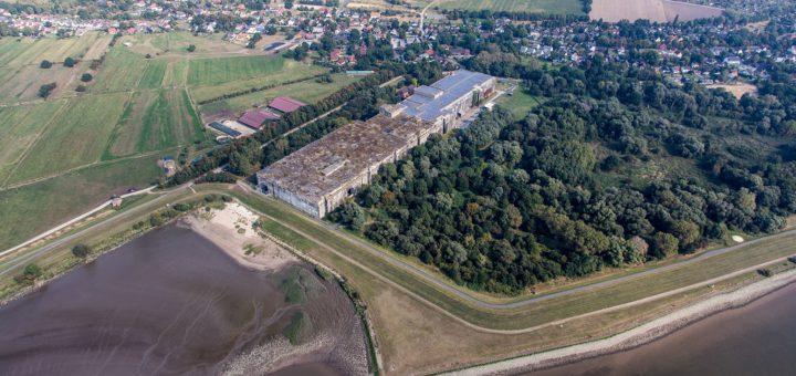 Die Valentinwildnis südlich des Bunkers in Farge umfasst mehr als 220.000 Quadratmeter Fläche. Foto: BUND/terra-air