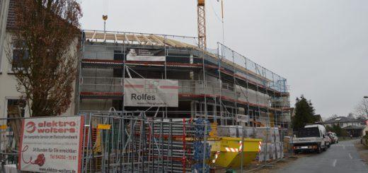 Noch ist der Neubau offensichtlich eine Baustelle. Im August sollen die Räume bezugsfertig sein. Foto: Sieler