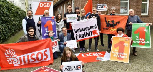 """""""Wir sind viele. Wir sind ein"""" lautet das Motto der diesjährigen Mai-Kundgebung in Delmenhorst.Foto: Konczak"""