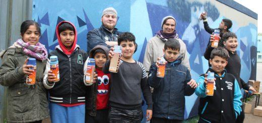 Graffiti Projekt Kinder Robinsbalje Alten Eichen OKiJA Jugendliche Huchting