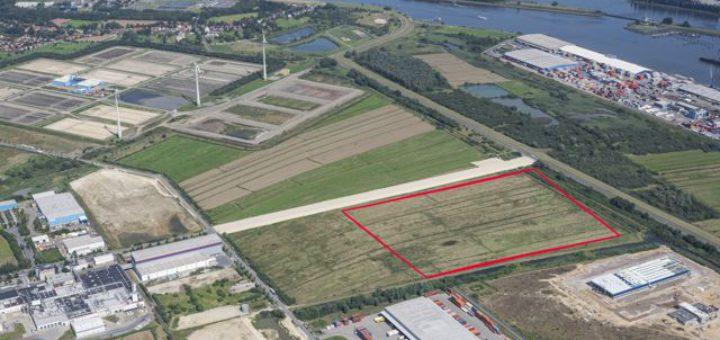 Auf diesem Gelände im Bremer GVZ will Borgward ab 2019 produzieren. Foto: WFB/Jan Rathke