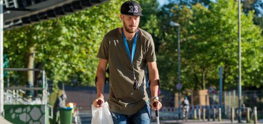 Im vergangenen Jahr zog sich Luca Caldirola einen Bruch des Außenknöchels zu. Foto: nph