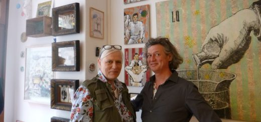 Gaby Ahnert und Oliver Zabel sind an der Carl-Schurz-Straße beide kreativ aktiv. Foto: Suhren