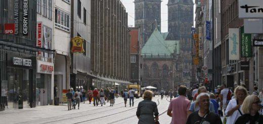 Hasestädter bewerten die Bremer Innenstadt schlechter als Touristen. Foto: Schlie