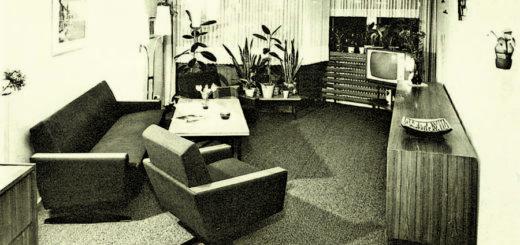 Die Möbeltrends haben sich verändert, aber Sofa und Fernseher gehörten auch in den 1960ern ins Wohnzimmer.