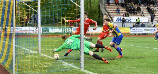 Dennis Janssen drückte den Ball nach 10 Minuten zum 1:0 für den SV Atlas über die Linie. Foto: Konczak
