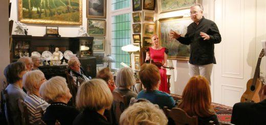 Anna Markowa und Gennady Kuznetsov verzauberten mit ihrem dreistündigen Programm in der Villa Kaufmann.Foto: Weers
