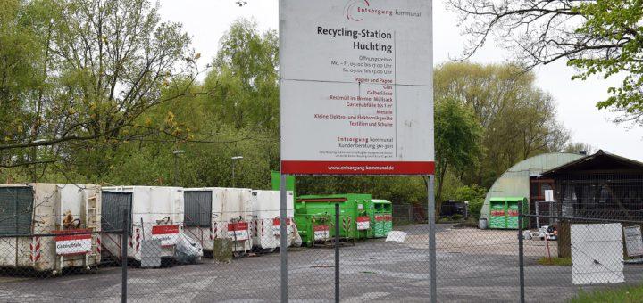 Die Recycling-Station in Huchting am Wardamm schließt nächstes Jahr ihre Pforten. Gartenabfälle oder auch Elektro-Artikel müssen dann bis nach Kirchhuchting gebracht werden. Foto: Schlie