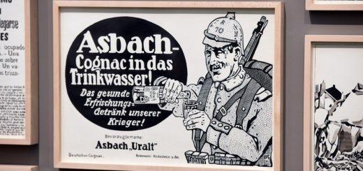"""Aus der Werkgruppe """"To the civiziled world"""": Deutsche Werbung für Asbach Uralt. Foto:Schlie"""