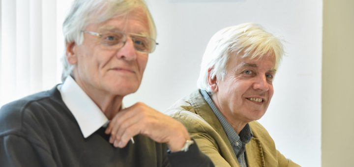 Joachim Kohlhoff (links) und Dr. Johannes Schnepel-Boomgaarden: Wahlhelfer. Foto: Schlie
