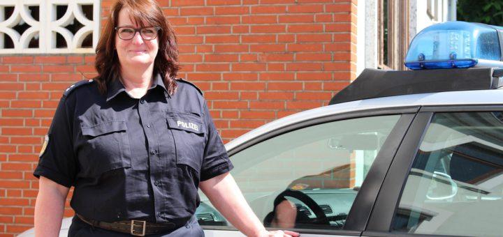 Kontaktpolizistin Kirsten Schrader ist seit neun Jahren am Revier in Woltmershausen. Foto: Füller