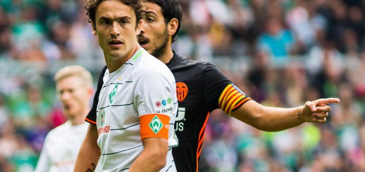 Thomas Delaney wird Werder in Abwesenheit von Kapitän Zlatko Junuzovic am Sonnabend aufs Feld führen. Foto: nph