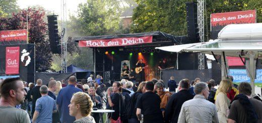 Umsonst und draußen: Das Rock den Deich findet in diesem Jahr zum neunten Mal statt. Foto: pv