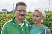 Torsten (l.) und Saskia Schaardt beim Tag der Fans