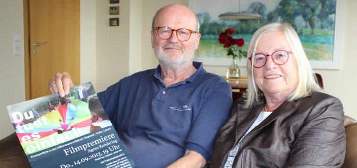 """""""Von der Idee bis zum Ende ist der Film Teil des gemeinsamen Lebens"""", sagt Meinhard Jantz-Kondering (links) über die Film-Projekte seiner Frau Agnes Kondering (rechts) Foto: Harm"""