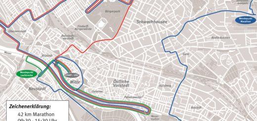 Marathon Strecke. Foto: BSAG