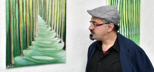 Für den gehörlosen Ali Shubar sind seine Bilder eine Form, seine Erinnerungen mit anderen zu teilen.Foto: Konczak