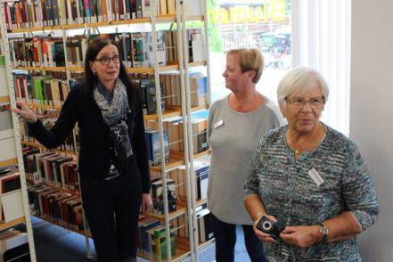 Kulturstaatsrätin Carmen Emigholz (links) war von den Räumen begeistert. Foto: Harm