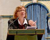 Pastorin Marina predigt am Reformationstag in Achim. Foto: pv