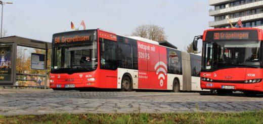 Mit dem Linnienkonzept für 2018 gibt es viele Änderungen. So fährt die Linie 94 nicht mehr Gröpelingen, sondern mit allen Fahrten nach Marßel. Foto: Harm