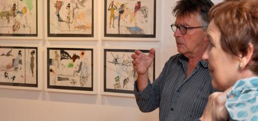 Rainer Kosubek und Martina Burandt zeigen eine Auswahl ihrer künstlerischen Positionen ab Freitag im Kulturhaus Müller in Ganderkesee. Foto: Konczak