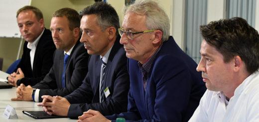 Pressekonferenz zur Zukunft des Josef-Hospital Delmenhorst. Foto: Konczak