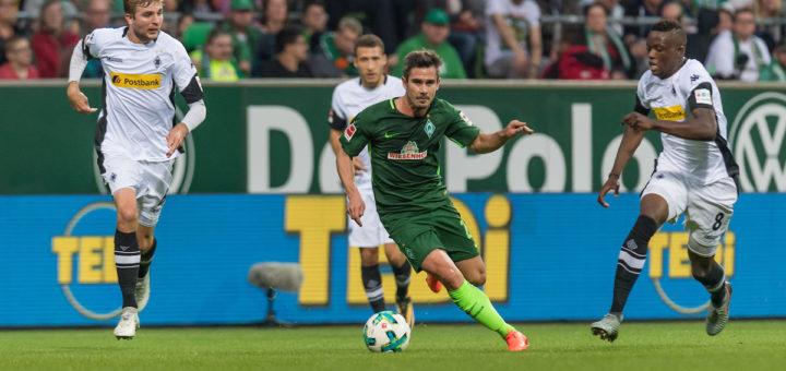 Werder-Angreifer Fin Bartels blieb auch gegen Mönchengladbach größtenteils wirkungslos. Foto: Nordphoto