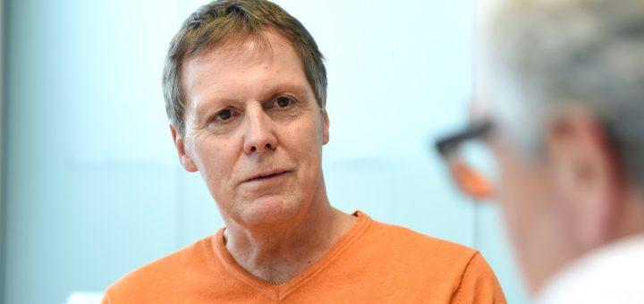 Frank Lenk, Vorstand des Rennvereins, im Interview. Foto: Schlie