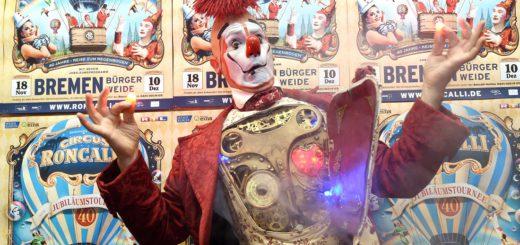 X3 Circus Roncalli Clown 2sp 4c. Foto: Schlie