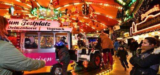 Das Kindersportkarussell von Ralf Böker ist die jüngeren Besucher des Weihnachtsmarktes seit vielen Jahren ein fester Anziehungspunkt. Foto: Konczak