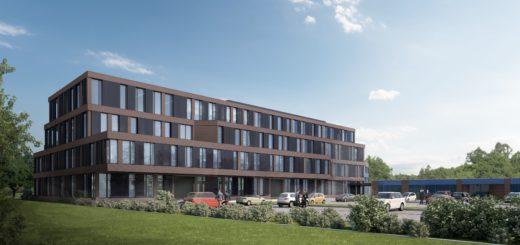 So soll das neue Produktionsgebäude aussehen. Visualisierung: Gruppe GME