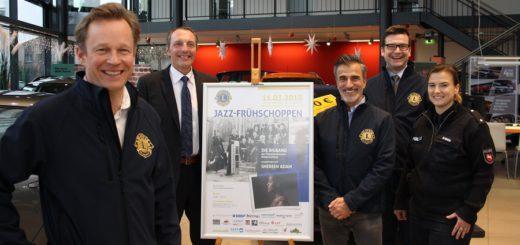 Das Orgenisations-Team der Lions hofft wieder auf einen regen Zuspruch für den Jazz-Frühschoppen mit der Bigband der Polizei und Sängerin Shereen Adam.Foto: nba