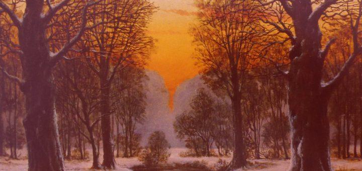 Ein Lieblingsmotiv von Ludwig Fischbeck: Der Sonnenuntergang im Hasbruch. Bildvorlage: pv