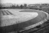 Das Stadion in Ganderkesee. Rechts oben im Bild der Schießstand. Bildvorlage: Orts- und Heimatverein Ganderkesee