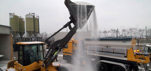 6.000 Tonnen Salz lagern in den Silos der Stadt, die sich den Winterdienst mit der ENO und dem Umweltbetrieb Bremen teilt.Foto: WR