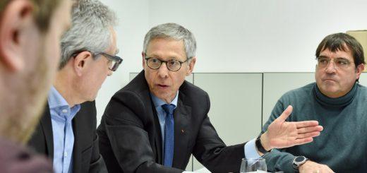 Bürgermeister Carsten Sieling im Gespräch mit der Redaktion des Weser Reports. Foto: Schlie