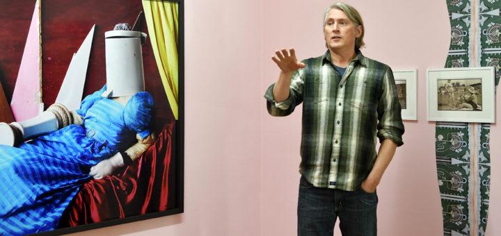 Thorsten Brinkmann war für die aktuelle Ausstellung in der Städtischen Galerie sowohl als Künstler als auch Kurator tätig.Foto: Konczak