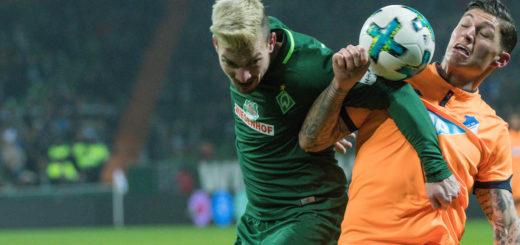 Jérôme Gondorf im Zweikampf mit einem Hoffenheimer.