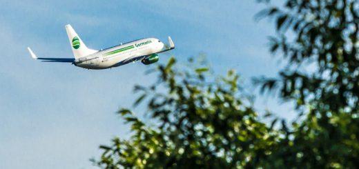 Ab Bremen fliegt Germania 22 Ziele in acht Ländern an.Foto: Karsten Kießling, Germania