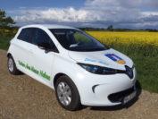 """Ein Renault Zoe fährt seit etwa zwei Jahren als """"Dörps-Mobil"""" im schleswig-holsteinischen Klixbüll. Foto: Schweizer"""