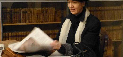 Die Schauspielerin Birgt Scheibe schlüpft am 10. März in die Rolle der Frauenrechtlerin Dr. Anita Augspurg.Foto: Landkreis Verden