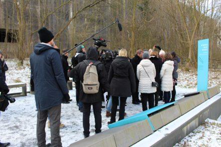 Das Interesse der Medien am Beusch von Frank-Walter Steinemier war groß. Foto: Harm