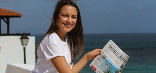 Noch weilt Patrizia Utz im TUI Magic Life auf Fuerteventura. Am 24. Februar trifft Miss Bremen ihre Konkurrentinnen im Europa-Park in Rust. Dann geht es um die Krone. Foto: Peter Newels