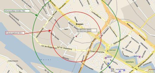 Erneute Entschärfung einer Fliegerbombe in der Überseestadt.