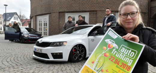 Sowohl getunte Fahrzeuge als auch Neuheiten aus der Kfz-Branche und Motorräder sind auf dem Autofrühling in der Delmenhorster Innenstadt ausgestellt. Foto: Konczak