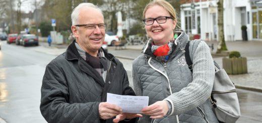 Karl-Heinz Bramsiepe und Gabi Piontkowski initiierten die Umfrage. Foto: Schlie