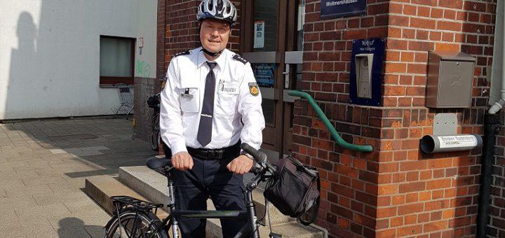 Neuer Kontaktpolizist in Woltmershausen Foto: Polizei Bremen